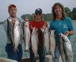 steelhead fishing charter and salmon fishing trip lake erie walnut creek PA